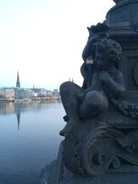 View from the Binnenalster lake