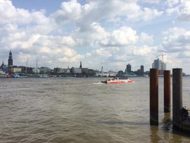View of Hamburg harbour