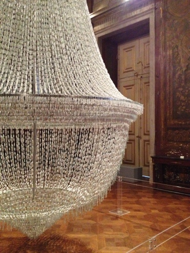 "One of Joana Vasconcelos' most iconic creations, ""The Bride"" is a chandelier made entirely from tampons"