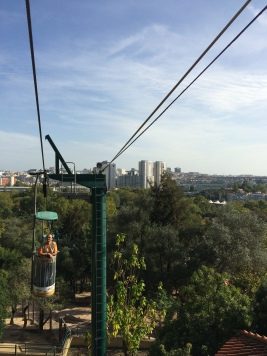 The Zoo's cable car is a cool way to see both the animals and Lisbon's skyline