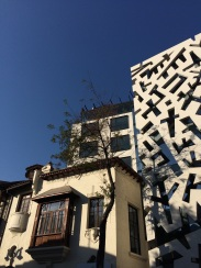 Cool architectural mashup in the 'Lastarria' neighborhood
