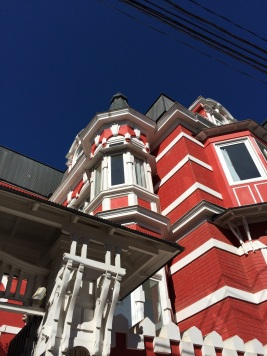 The 'Palacio Astoreca' hotel, installed in a beautiful Victorian building from the early 20th century. By its side, the Palacio Baburizza is now Valparaiso Fine Arts Museum