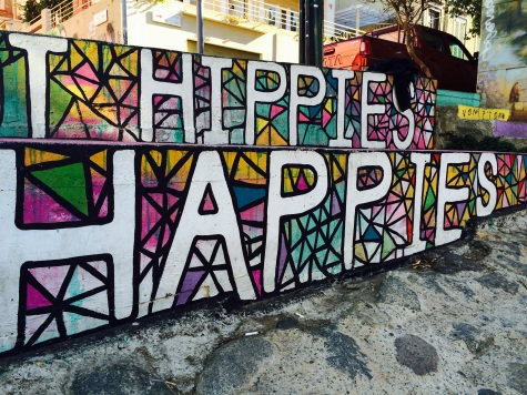 Yeah, yeah, 'happies' is not actually a word: call it poetic freedom!