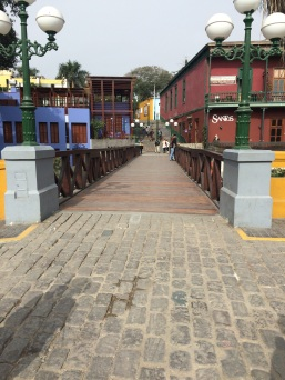 The 'Puente de los Suspiros', in Barranco. As the legend goes, if you make a wish and hold your breath the first time you cross the bridge, your wish will come true