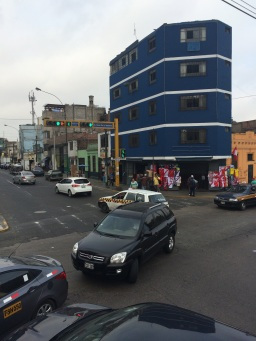 Traffic in Lima is chaotic...