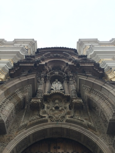Detail of the 'Convento de San Francisco de Assis' granite carved portal