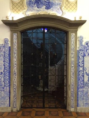 Inside the Nossa Senhora do Brazil church