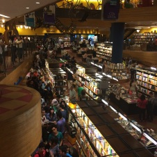 A crowded book signining session at 'Livraria Cultura' one of São Paulo's many bookstores