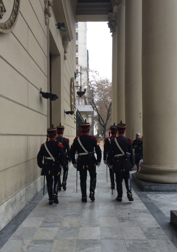 Changing of the guard of the Buenos Aires Metropolitan Cathedral, where Pope Francis was once a Archbishop