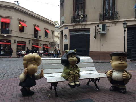 This one took me back to my childhood: Mafalda, Manolito and Susanita, Quino's most famous characters