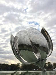 The 'Floralis Generica' was designed by architect Eduardo Catalano to open and close throughout the day (unfortunately the mechanism is currently disabled)