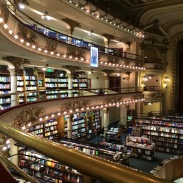 The 'Grand Splendid' library, voted by the Guardian as the second most beautiful library in the world