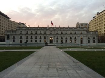 'Palacio de la Moneda', where Salvador Allende lost his life