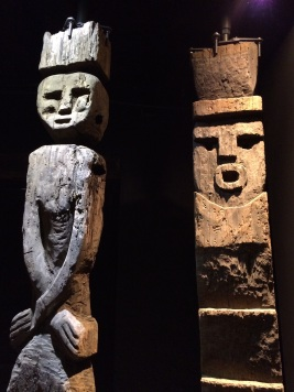 The Mapuche, a group of indigenous inhabitants from South-Central Chile, believed that these wooden statues would protect a home