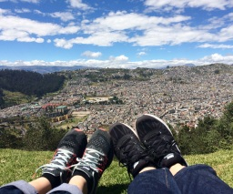 Enjoying the view from the top of'Cerro El Panecillo'