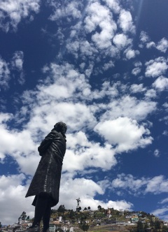 Statue of Eugenio Espejo, an equatorian scientist, writer, lawyer and one of the main precursors of the separatist movement in Quito