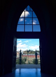 A glimpse out of the 'Basilica del Voto Nacional'