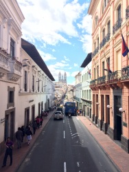 'Calle Garcia Moreno' or 'Calle de las siete cruces', the main street in the historical centre got its name from the seven crosses along the way, built to reinforce the catholic faith in the 16th and 17th century population, that still followed many pagan rituals