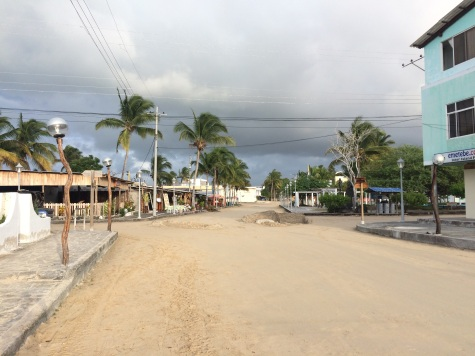 This is Puerto Villamil's (Isabela's largest town) main street