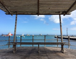 Pier view in San Cristobal