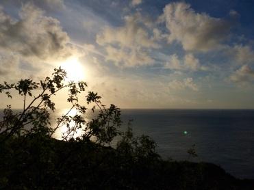 Breathtaking sunset over 'Las Tijeretas', in San Cristobal