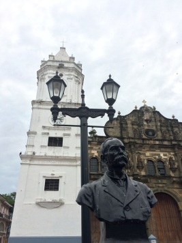 A statue of Manuel Amador Guerrero, Republic of Panama's first president