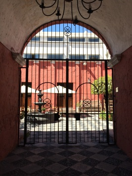 A colonial style courtyard in Arequipa