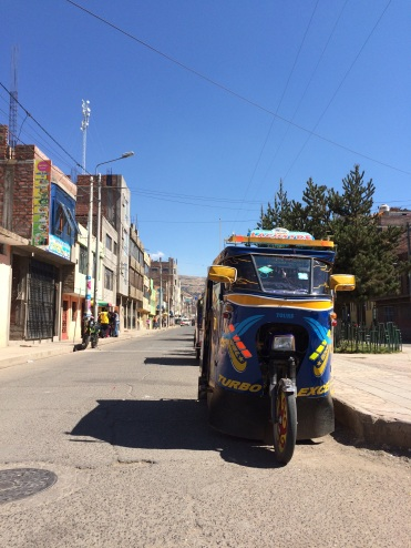 Souped up tuk tuks are everywhere in Puno