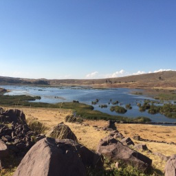 Sillustani was believed to be an island in ancient times. Nowadays it is a peninsula, on the shores of lake Umayo