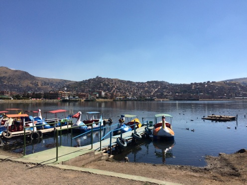 Lake Titicaca's paddle boats and polluted waters don't make a great first impression