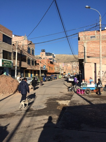"""Like in the majority of the cities we visited in Peru, the houses here are an """"ongoing project"""", and you add floors and finish the facade along the years, giving the city an impression of a continuous construction site"""