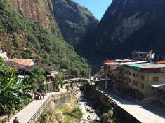 Aguas Calientes sits at the foothil of Machu Picchu