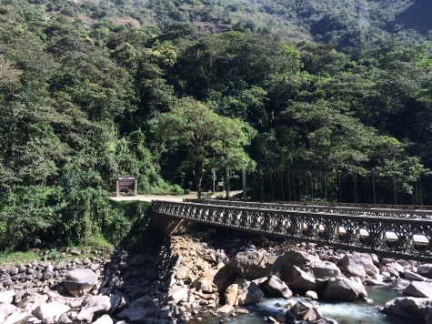 The bridge marks the entrance to the Machu Picchu park. You'll need a ticket bought beforehand to enter