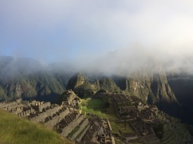 We got to Machu Picchu around 7am. It was tempting to stay and enjoy the view, but we still had to climb up the 'Montaña'!