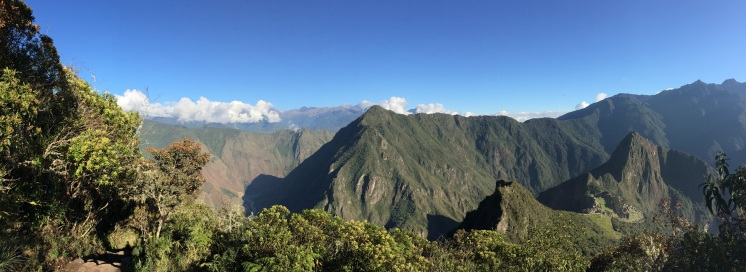 The view halfway up the 'Montaña'
