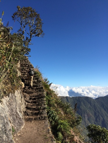 Most of the trail is made up of steep stairs overlooking cliffs (not the ideal place to be if you struggle with heights)