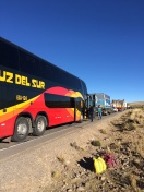 Our bus ride back to Lima turned into a 26 hour nightmare because of road works