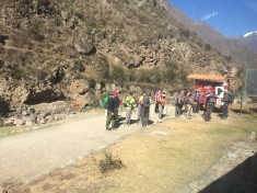 A few lucky fellows at the start of the Inca Trail