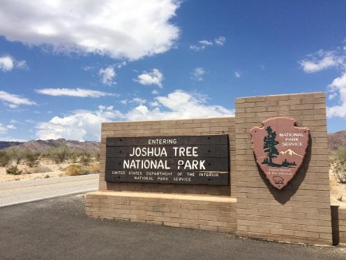 Entrance at the Joshua Tree National Park