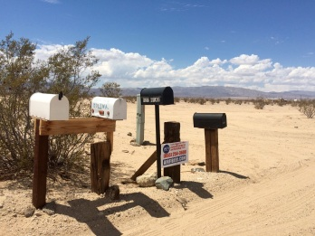 Living in the desert is not an excuse for not receiving mail!