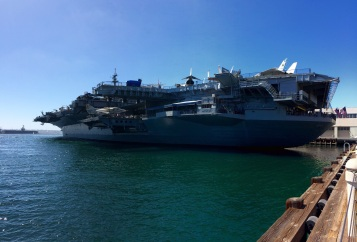 The USS Midawy is a massive airport carrier turned into a museum