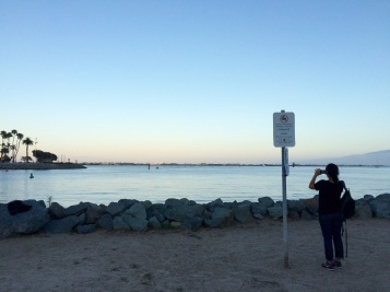 Jules snaps a photo of San Diego's beautiful coastline