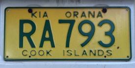 The 'Kia Orana' motto is even part of the license plates