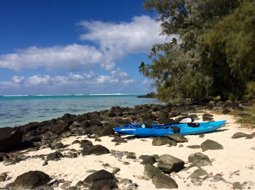 After getting there we dragged the kayak to shore...