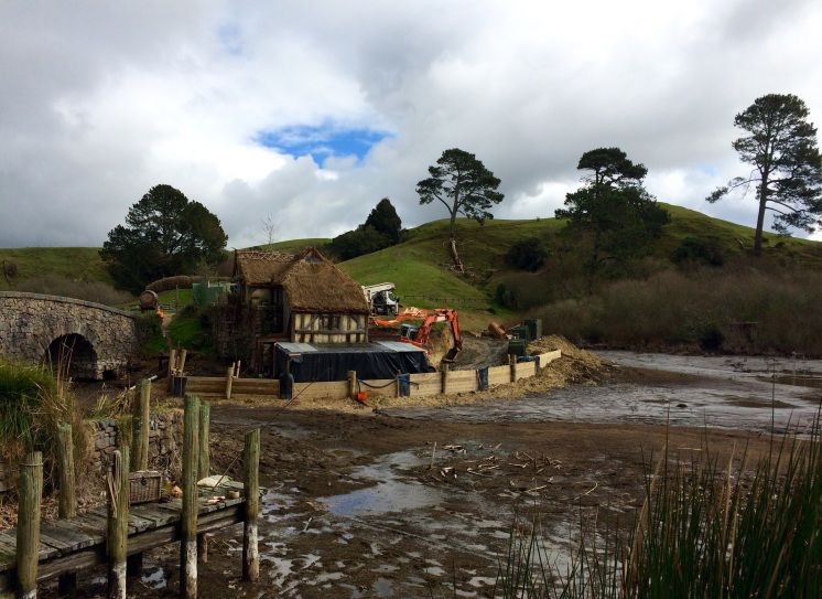 Even in The Shire you need bulldozers to help with construction