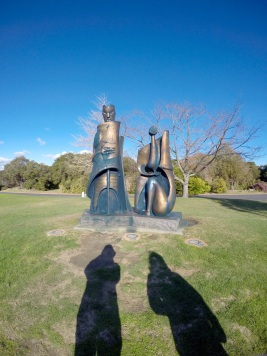 Waitukei sculptures in Rotorua, by a local artist