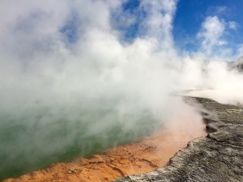 The Champagne Pool is one of Wai-o-Tapu's coolest attractions...