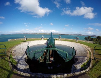 The disappearing gun of North Head recoiled into its hideout after each round, to avoid detection