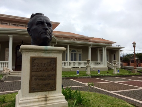 Bust of Dr. Rafael Calderon Guardia in the entrance of the museum
