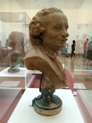Look at the detail of the nose and hair curls: no effort was spared into carving this wooden bust
